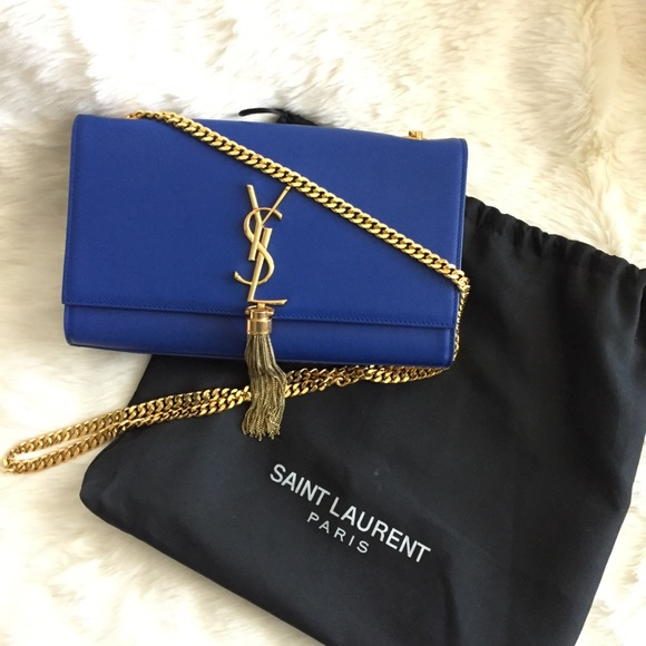025b0760ae5 YSL medium Kate Tassel Chain Bag in Royal Blue. M 5ad65f591dffda3b4874e271